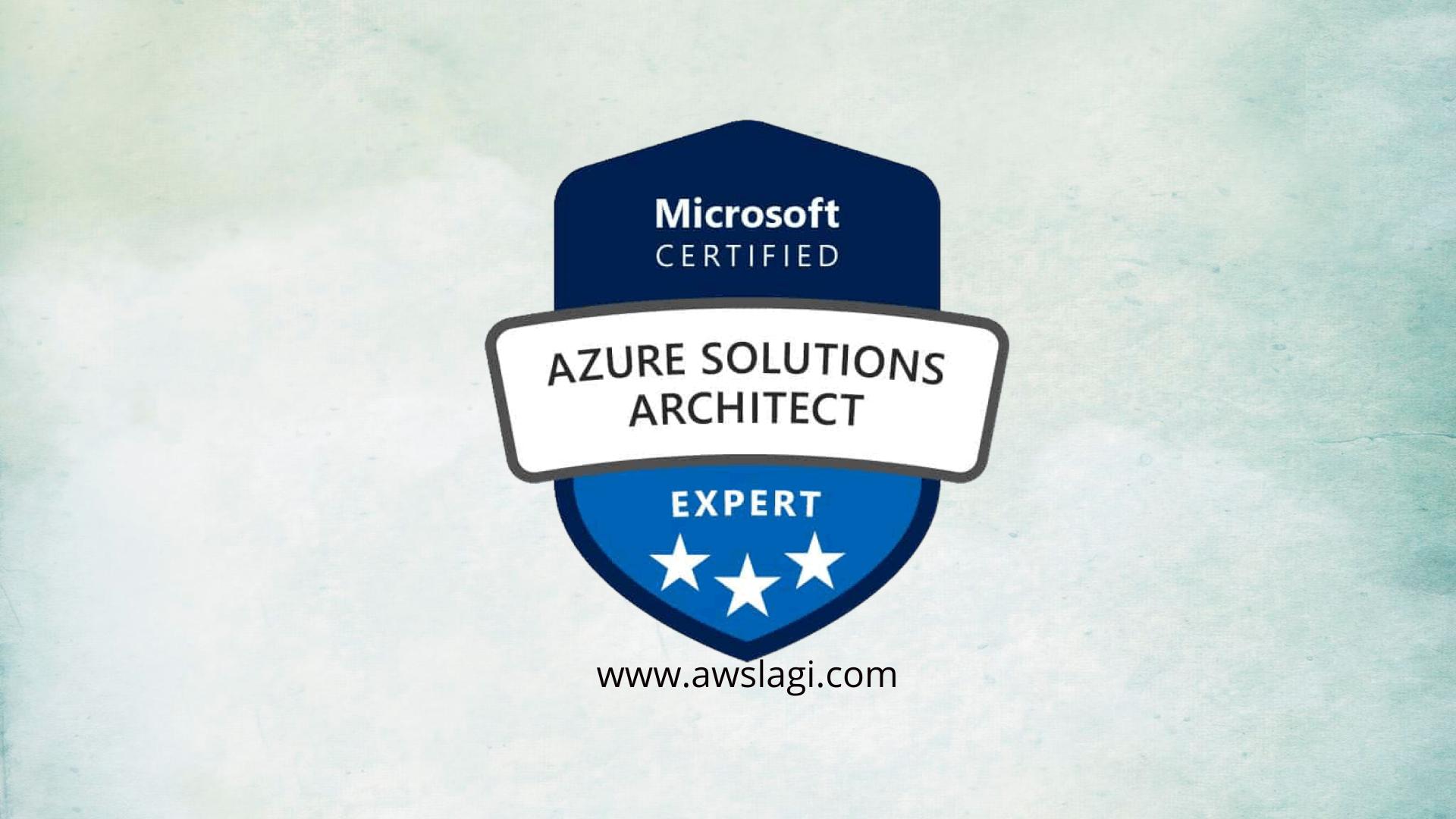 Microsoft Azure Certified Solutions Architect AZ-304 Actual Exam Logo