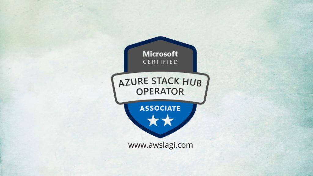 Microsoft Azure Certified Stack Hub Operator AZ-600 Actual Exam Logo